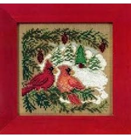 MillHill Beads Cardinal Forest - Counted Cross Stitch Kit
