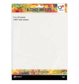 "Alcohol Ink Yupo Paper, White 8"" x 10"""