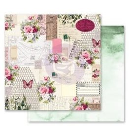 12x12 Patterned Paper, Misty Rose - Scented Love Letters