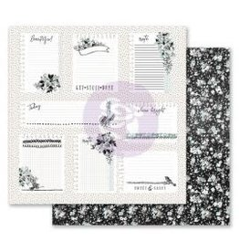 12x12 Patterned Paper, Flirty Fleur - Little Notes