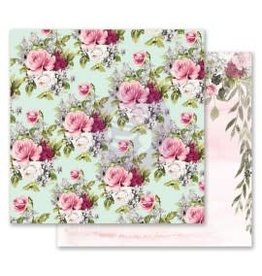 12x12 Patterned Paper, Misty Rose - Flowers for Her