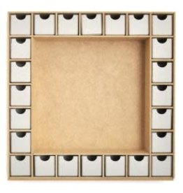 "Beyond The Page MDF Square Shadow Box Advent Calendar 13""X13"" (1.5""X1.5""X1.5"" Drawers)"
