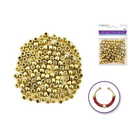 Pony Beads: 9mmx6mm Barrel Metallic x150 - Gold