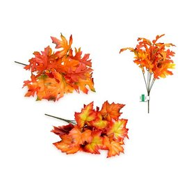 "Enchanted Garden: 12"" Fall Leaves Bush x6 (12 Leaves)"