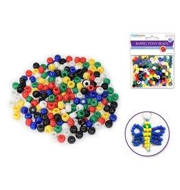 Pony Beads: 9mmx6mm Barrel Standard x175 - Opaque Multi-Mix
