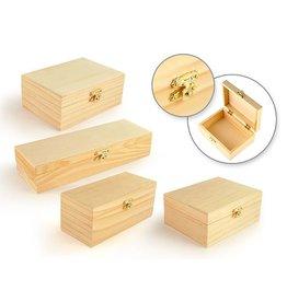 "Wood Box Assortment: 6""-8.5"" w/Clasp"