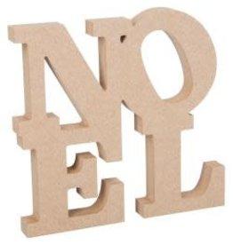 "MDF Stacked Noel 7.5""x9"""