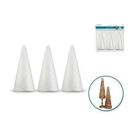 """Polyfoam Cone: 4"""" 3/pk"""