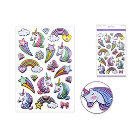 "Paper Craft Sticker: 5.5""x8.25"" Foil Fun  Unicorn Rainbow"