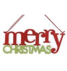 "14.25""L ""Merry Christmas"" Word Sign"