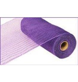 "Craig Bachman 10""X10yd Metallic Value Mesh Purple W/Purple Foil"