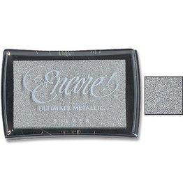 Encore Ink Pad, Metallic silver