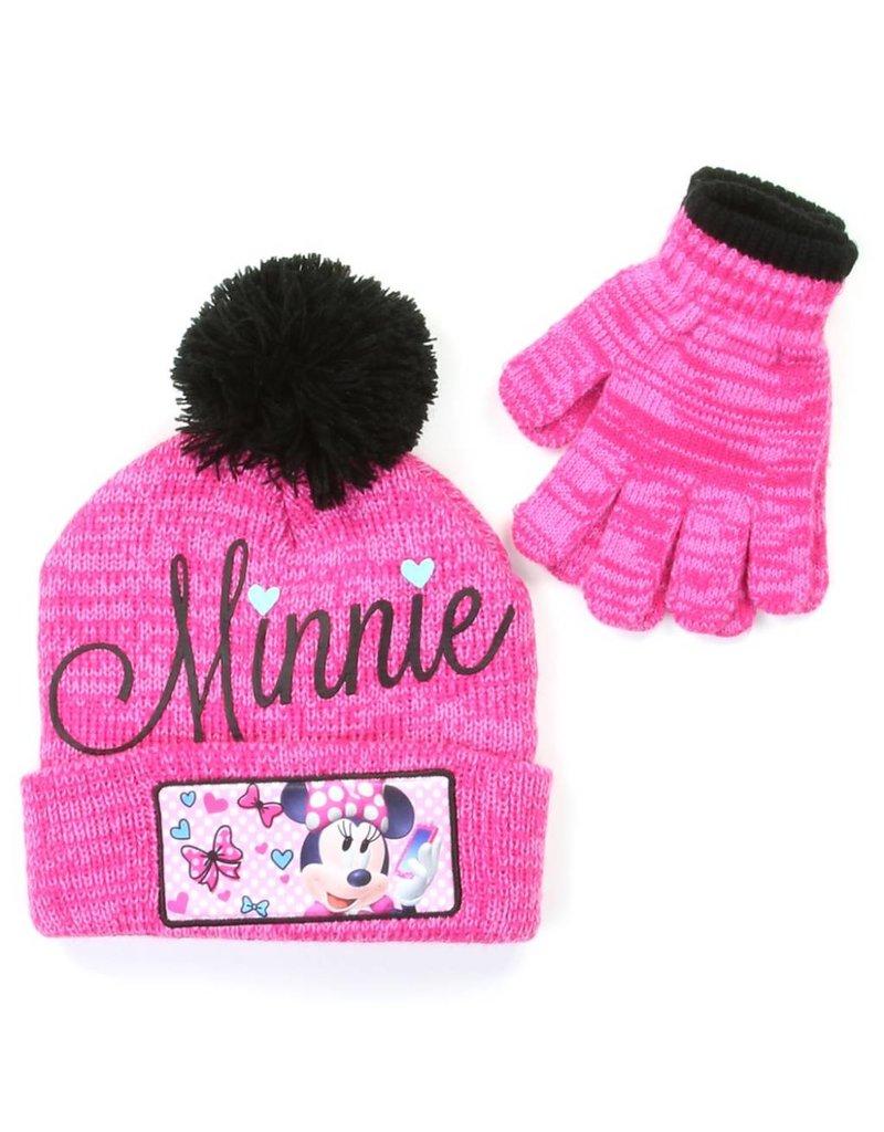 Disney Minnie Mouse Winter Hat   Glove Set ce9aab08440