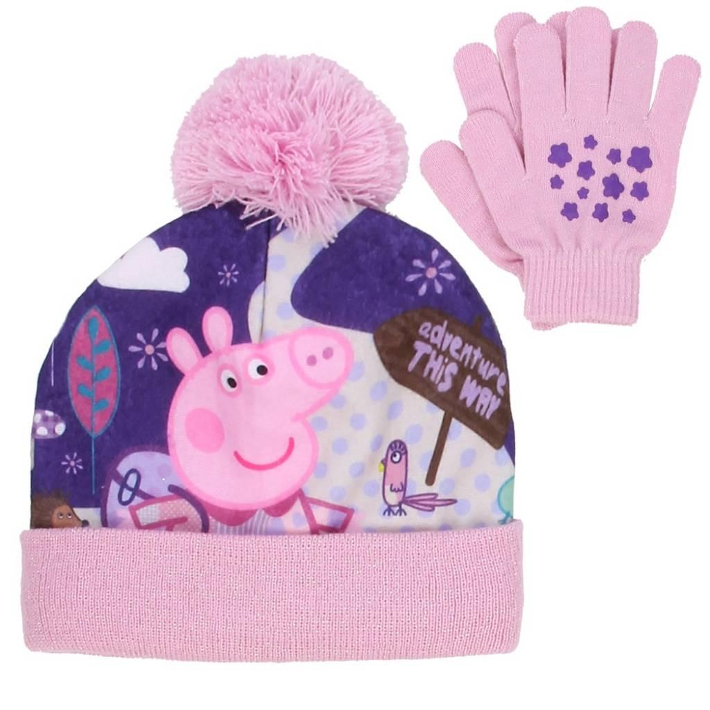 Peppa Pig Winter Hat   Gloves Set 98d8c1a9593