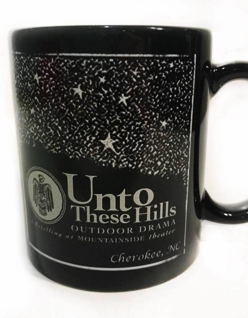 Unto These Hills Black Starry Night Coffee Mug