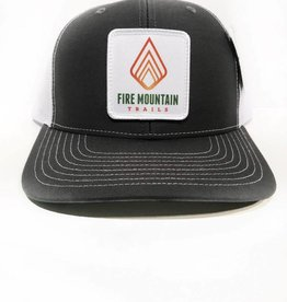 Fire Mountain Snapback Ball Cap Black & White
