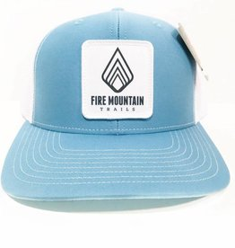 Fire Mountain Snapback Ball Cap Carolina Blue & White