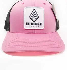Fire Mountain Snapback Ball Cap Candy Pink & Black
