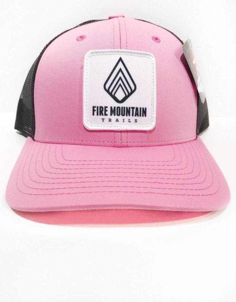WEB SALES: Fire Mountain Snapback Ball Cap Candy Pink & Black