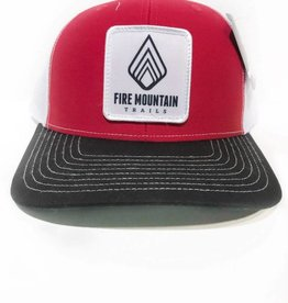 Fire Mountain Snapback Ball Cap Red, White, Black
