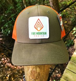 Fire Mountain Snapback Ball Cap Hunter Green & Orange