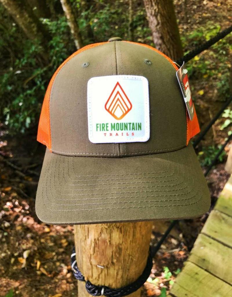 WEB SALES: Fire Mountain Snapback Ball Cap Hunter Green & Orange