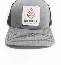 Fire Mountain Snapback Ball Cap Gray & Black