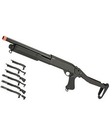CYMA M870 Tri Shot Shotgun Full Metal Folding Stock
