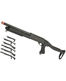 CYMA M870 Tri Shot Shotgun Full Metal Folding Stock