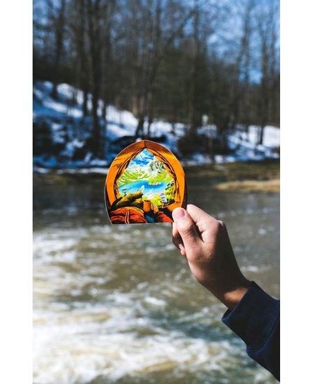Sticker Art Alpine Tent View