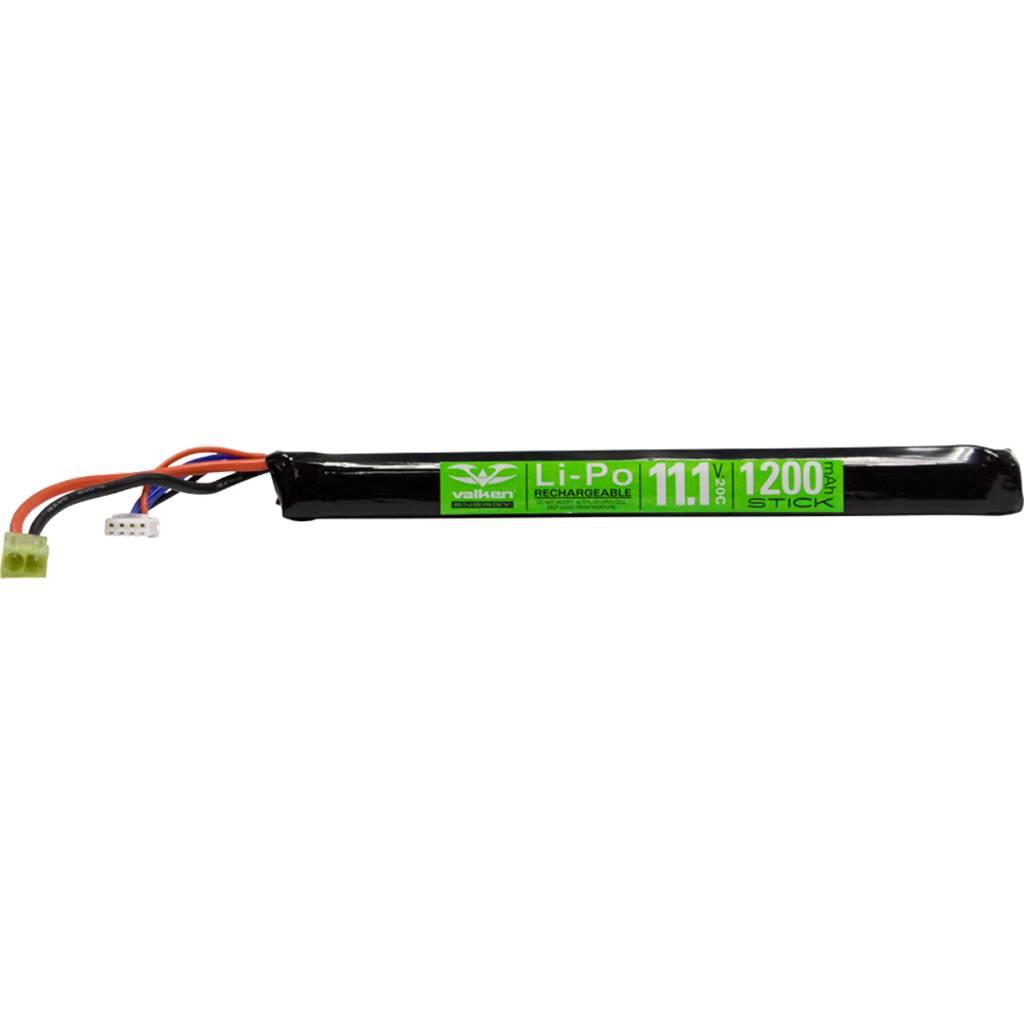 Valken Valken 11.1V 1200 mAh LiPo Long Stick Battery Tamiya
