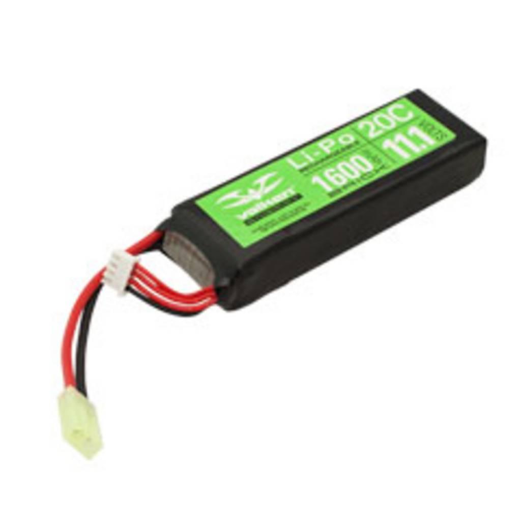 Valken Valken 11.1V 1600 mAh LiPo Brick Battery Tamiya