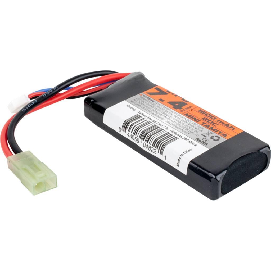 Valken Valken 7.4V 1600 mAh LiPo Brick Battery