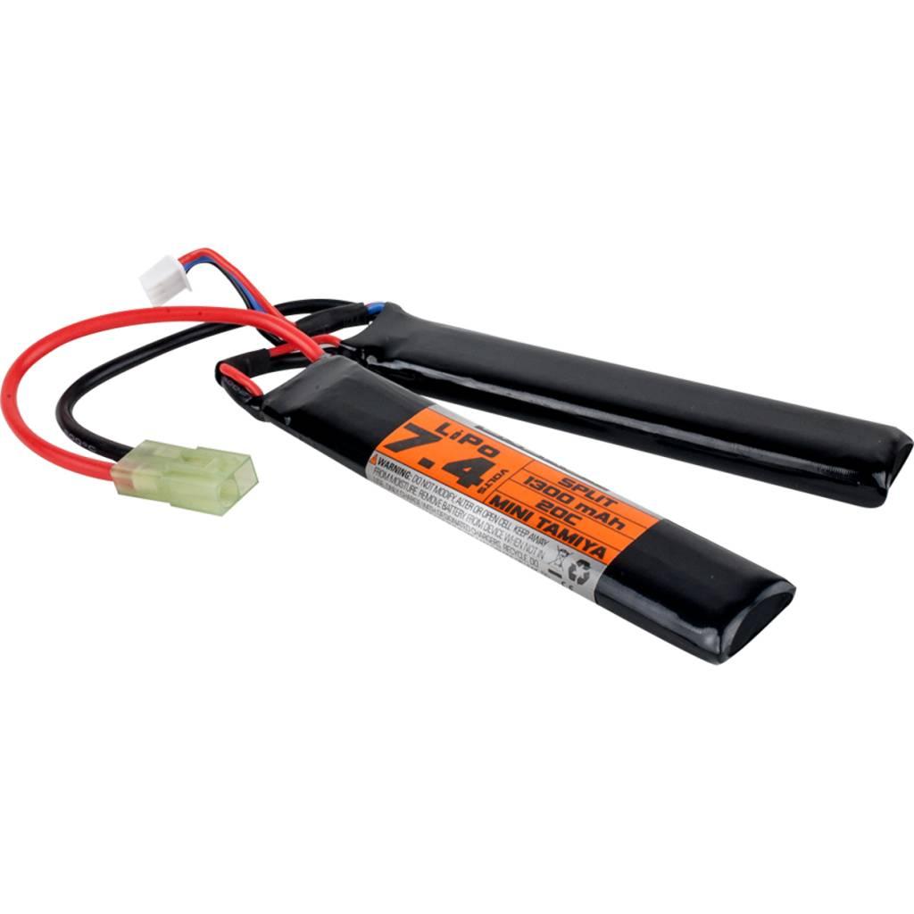 Valken Valken 7.4V 1300 mAh LiPo Split Battery