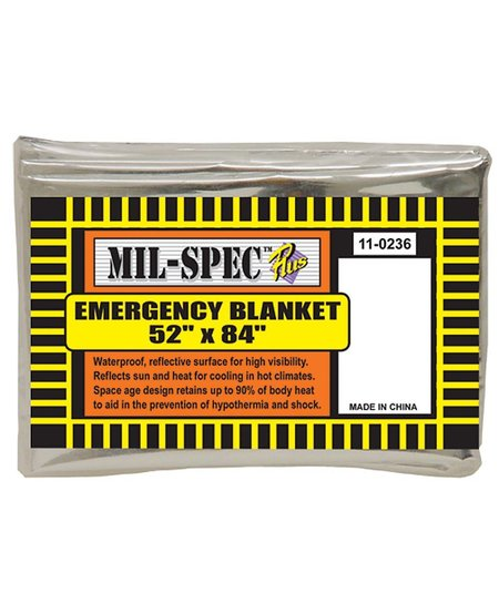 "Mil-Spec Emergency Blanket 52""x84"""