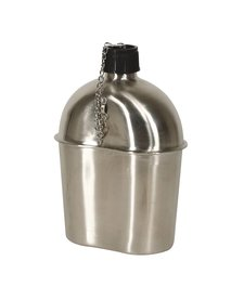 Mil-Spec WWII Style Stainless Steel Canteen