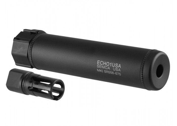 """Echo 1 Echo 1 MK1 SR556 6"""" QD Barrel Extension w/ Flash Hider"""