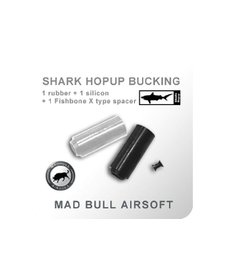Madbull Airsoft Black/Clear Shark Bucking w/ Fish Bone Spacer 2 Pack