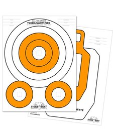 Rite in the Rain 8.5 X 11 100 LB CLOSE RANGE TARGET 25 PK WHITE/ORANGE