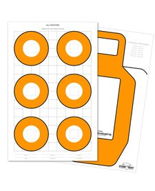 Rite in the Rain 8.5 X 11 100 LB ZEROING TARGET25 PK WHITE/ORANGE