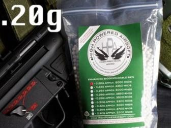 HPA High Power Airsoft BIO .20g 5000 Count BBs