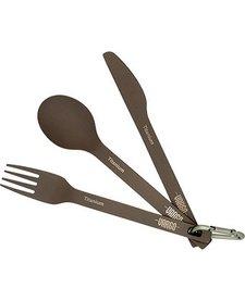 Vargo Titanium Spoon, Fork, Knife Set ULV