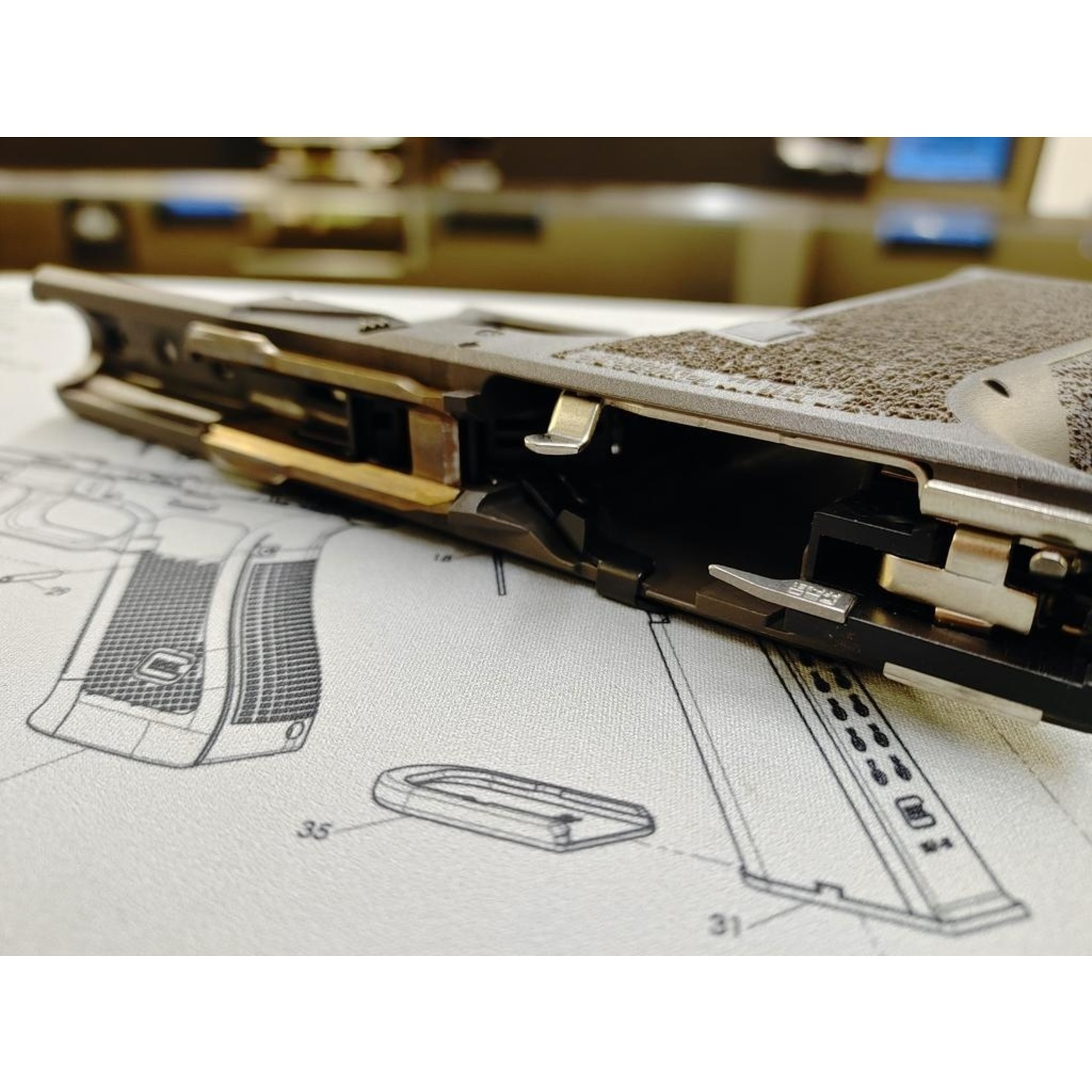 Poly80 PFS9 Serialized Standard Frame - Cobalt, Fully Assembled,  LPK installed