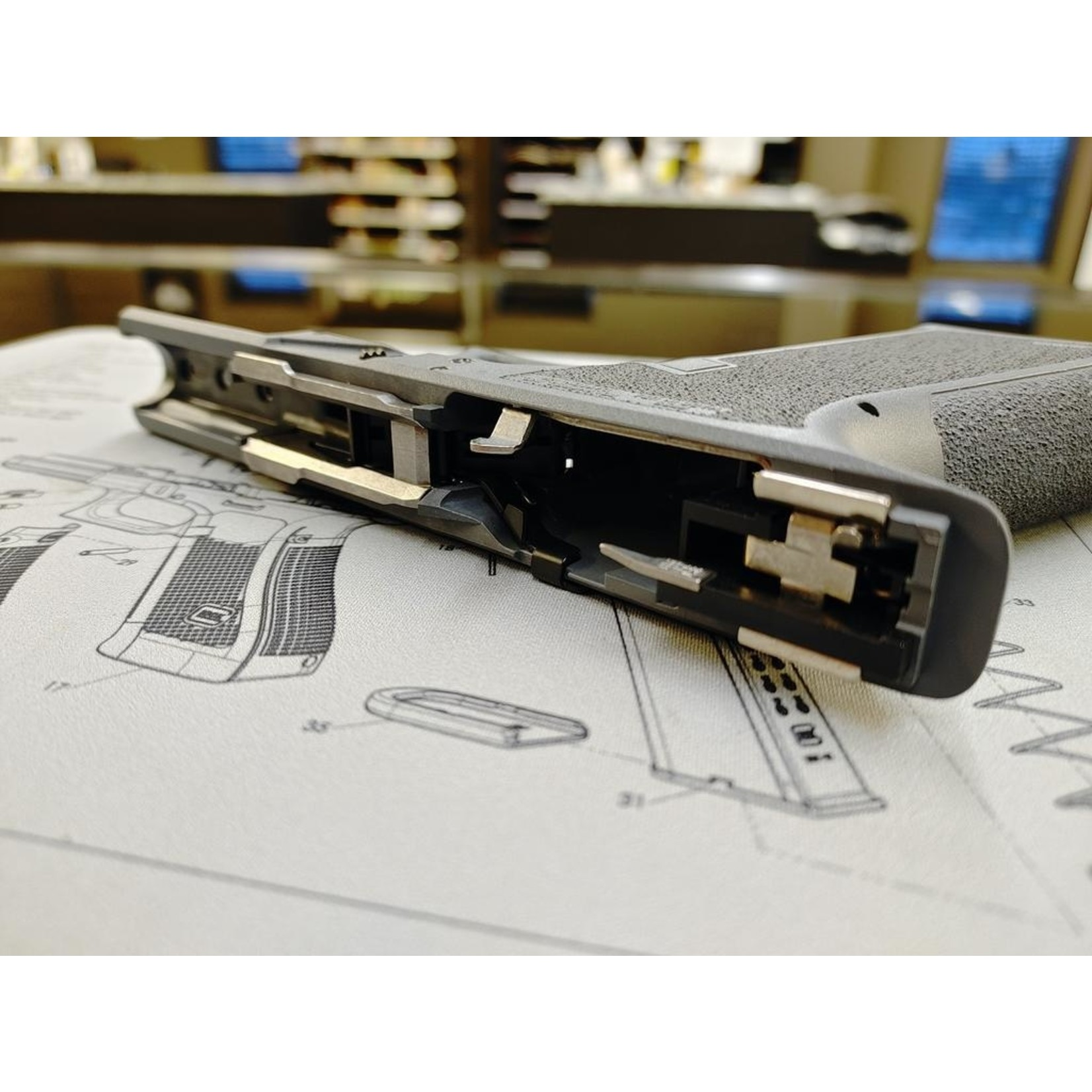 Poly80 PFS9 Serialized Standard Frame - Gray, Fully Assembled,  LPK installed