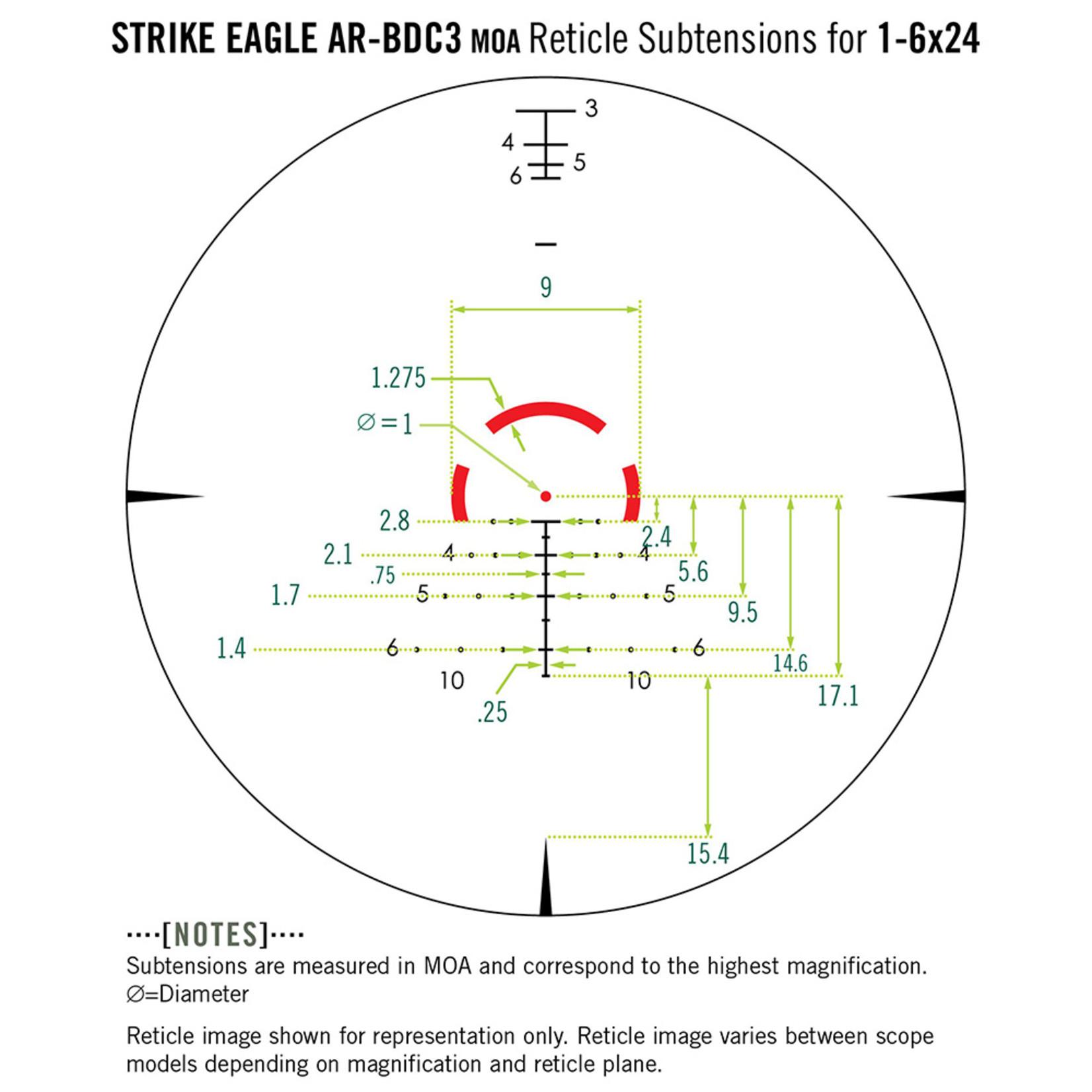 Vortex Strike Eagle 1-6x24 AR-BDC-3