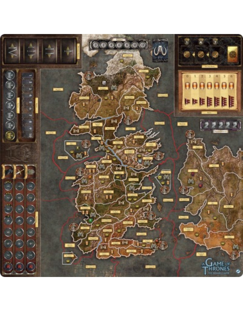 Fantasy Flight Games A Game of Thrones - The Board Game (Second Edition) : Mother of Dragons Deluxe Gamemat [anglais]
