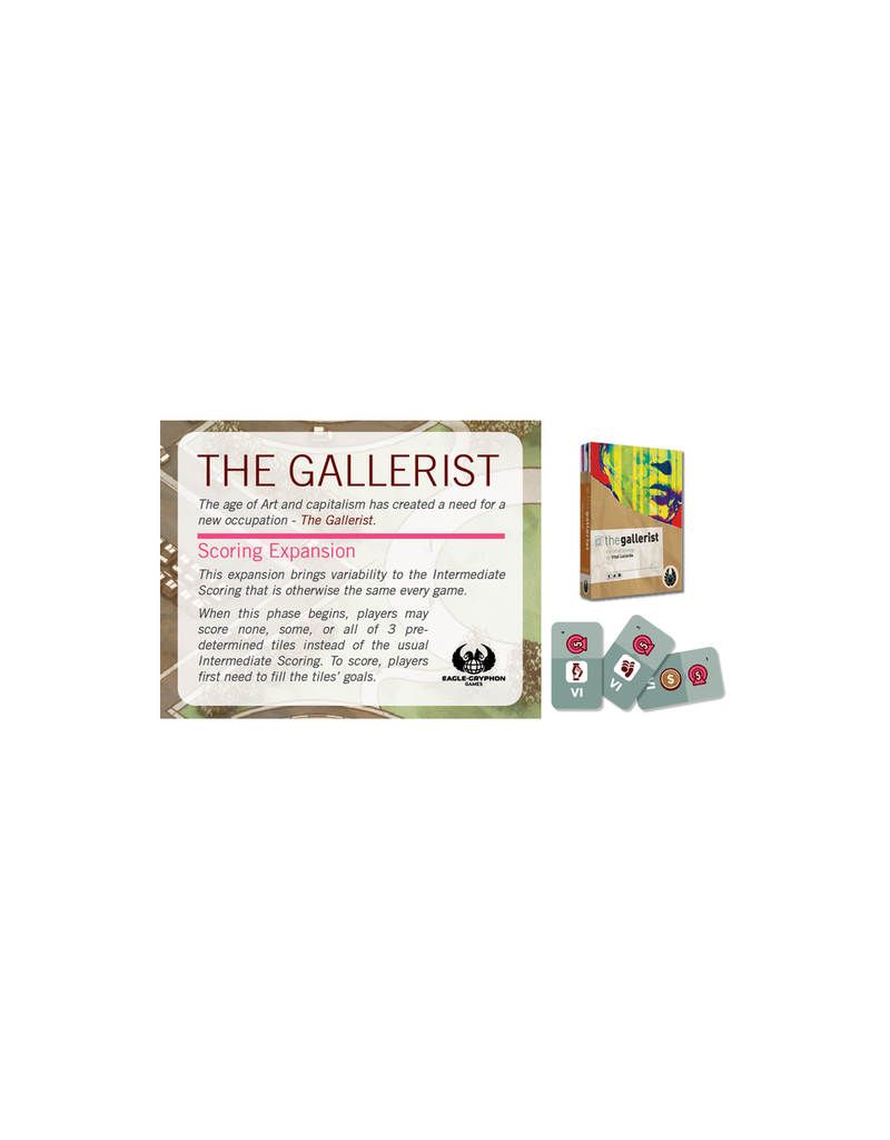 Eagle-Gryphon Games Gallerist (the) (+Scoring Expansion) [anglais]