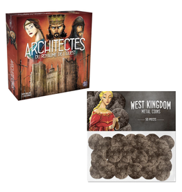 Pixie Games Architectes du Royaume de l'ouest : jeu de base [français] + monnaie en métal