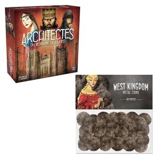 Pixie Games Architectes du Royaume de l'ouest : jeu de base [French] + monnaie en métal