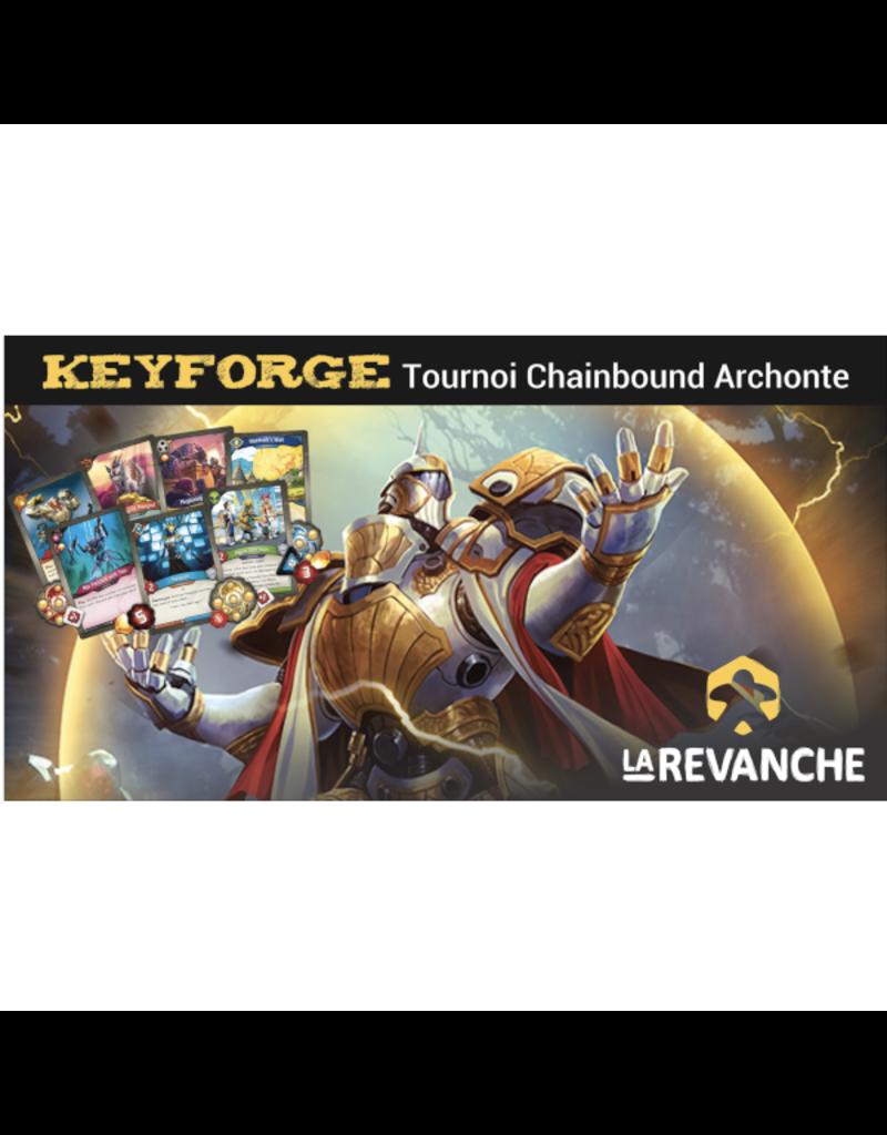 """La Revanche Tournoi Keyforge - """"Chainbound Archonte"""" - 21 novembre 2019"""